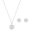 Load image into Gallery viewer, Swarovski Magic Snowflake Set, White, Rhodium plated