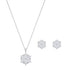 Swarovski Magic Snowflake Set, White, Rhodium plated