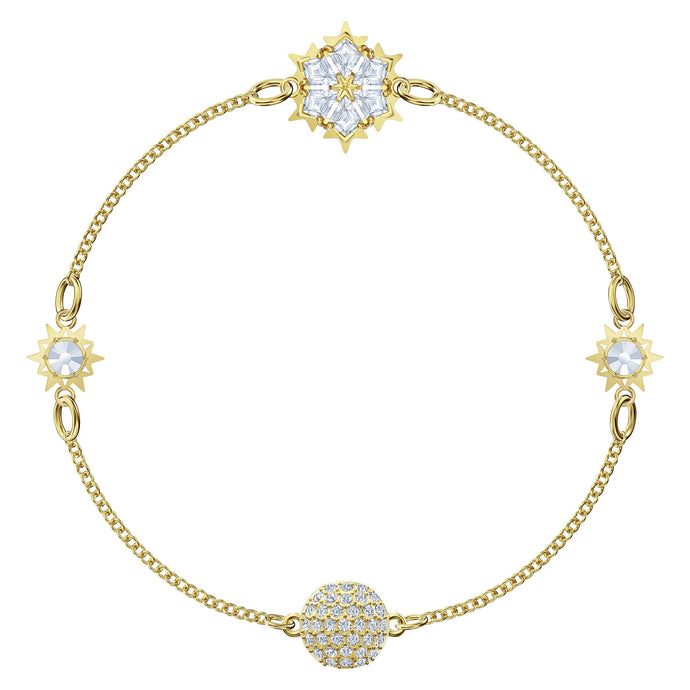 Swarovski Remix Collection Snowflake Strand, White, Gold-tone plated