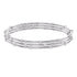 Swarovski Moonsun Bangle, White, Rhodium plated