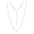 Swarovski Moonsun Necklace, White, Rhodium plated