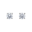قم بتحميل الصورة في عارض الصور ، Swarovski Attract Stud Pierced Earrings, White, Rhodium plated