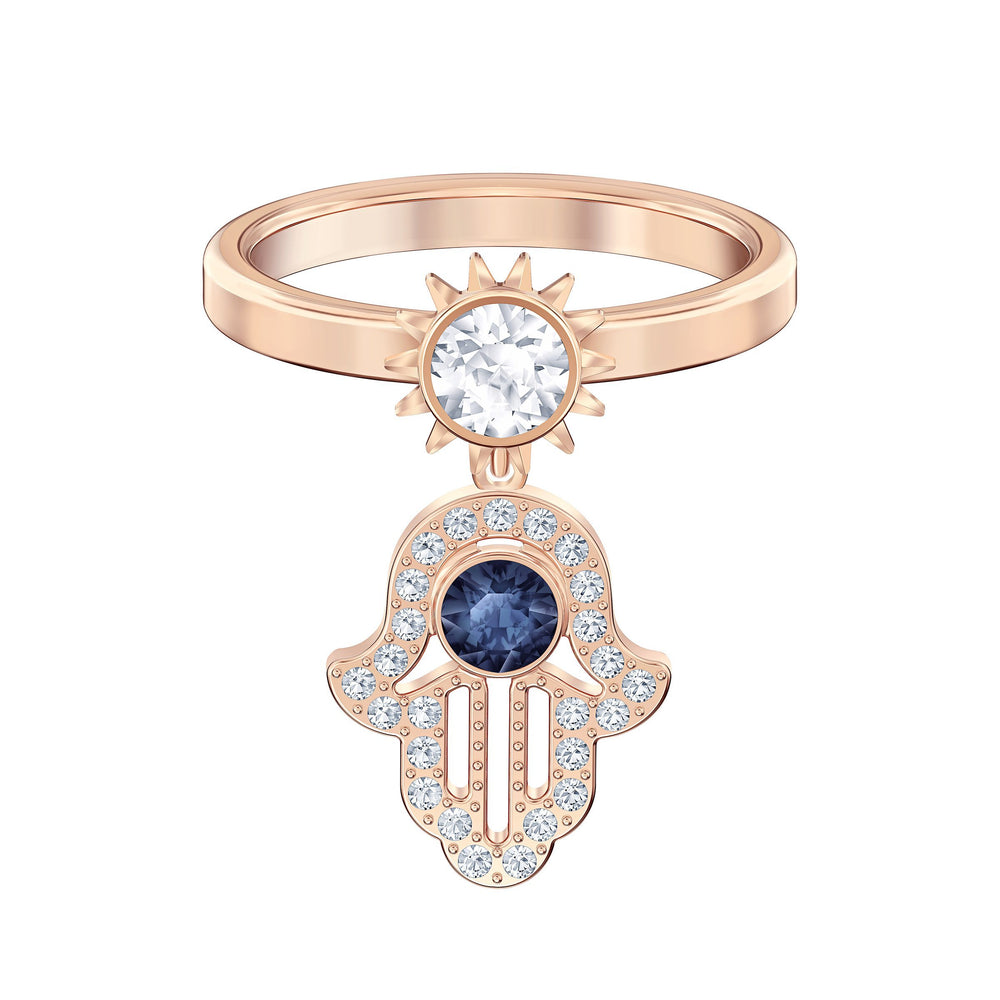 Swarovski Swarovski Symbolic Motif Ring, Blue, Rose-gold tone plated