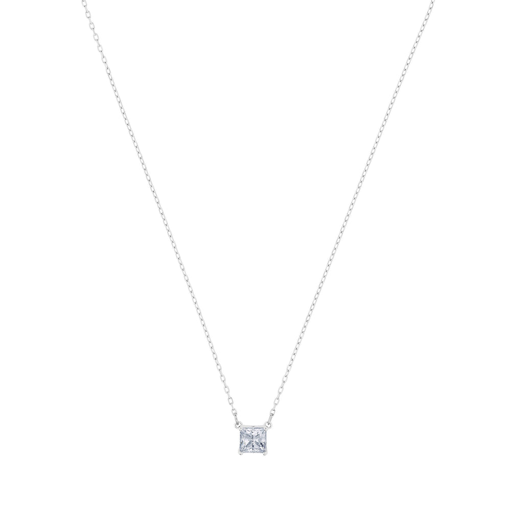 Swarovski Attract Necklace, White, Rhodium plated