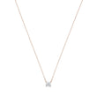 Load image into Gallery viewer, Swarovski Attract Necklace, White, Rose-gold tone plated