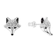 Load image into Gallery viewer, Swarovski Polar Bestiary Drop Pierced Earrings, Multi-colored, Rhodium plated