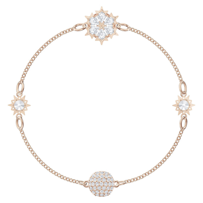 Swarovski Remix Collection Snowflake Strand, White, Rose-gold tone plated