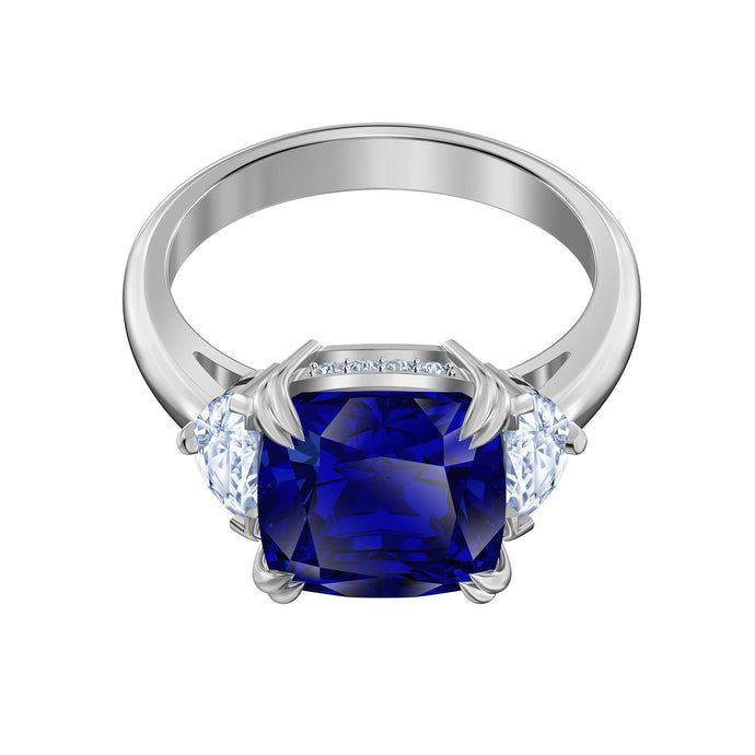 Swarovski Attract Cocktail Ring, Blue, Rhodium plated