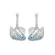 قم بتحميل الصورة في عارض الصور ، Swarovski Iconic Swan Pierced Earrings, Multi-colored, Rhodium plated