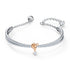Lifelong Heart Bangle, White, Mixed metal finish