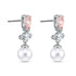 Perfection Pierced Earrings, Pink, Rhodium plated
