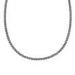 Load image into Gallery viewer, Swarovski Tennis Deluxe Necklace, Gray, Ruthenium plated