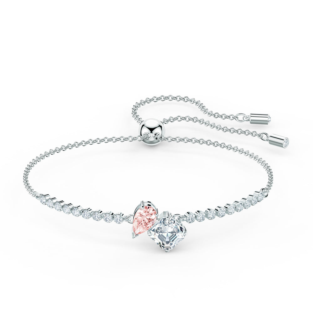Attract Soul Bracelet, Pink, Rhodium plated