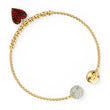قم بتحميل الصورة في عارض الصور ، Swarovski Remix Collection Heart Strand, Red, Gold-tone plated