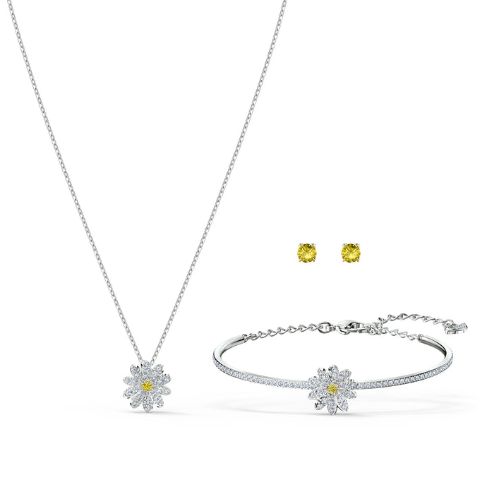 Eternal Flower Set, Yellow, Mixed metal finish