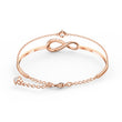 Load image into Gallery viewer, Swarovski Infinity Bangle, White, Rose-gold tone plated