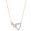 Load image into Gallery viewer, Swarovski Infinity Heart Set, White, Mixed metal finish