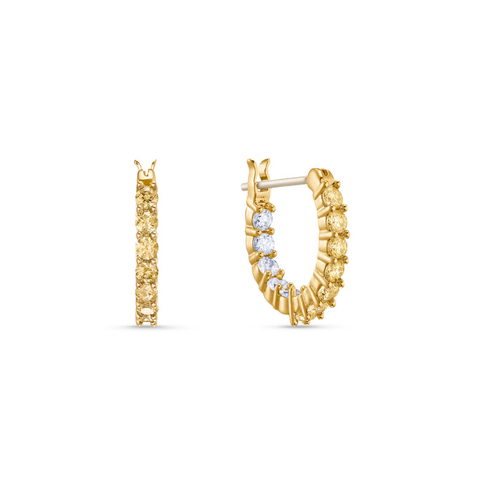 Vittore Hoop Pierced Earrings, Gold tone, Gold-tone plated