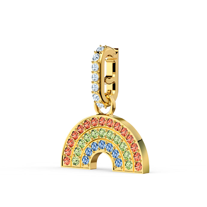 Swarovski Remix Collection Rainbow Charm, Light multi-colored, Gold-tone plated