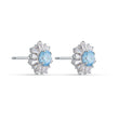 Load image into Gallery viewer, Sunshine Pierced Earrings, Blue, Rhodium plated