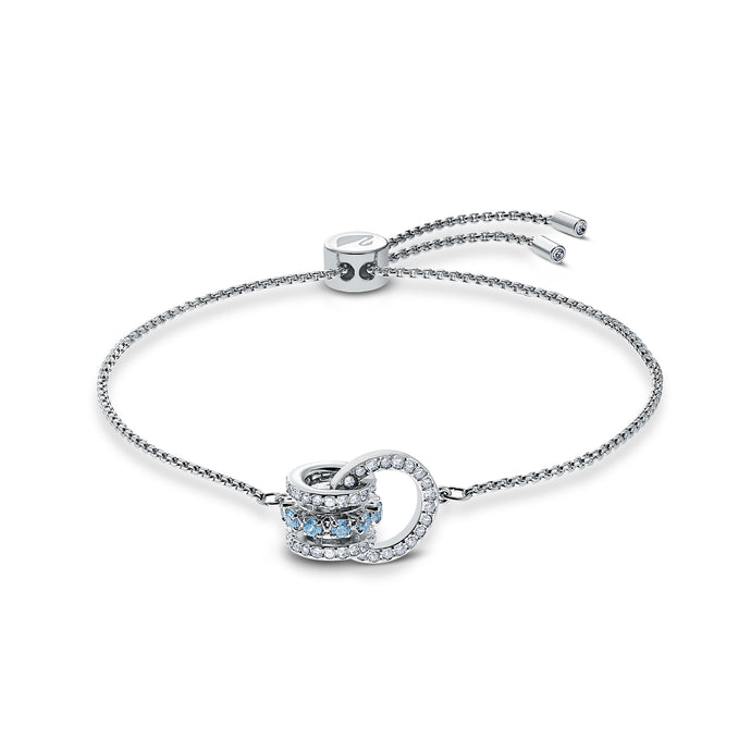 Further Bracelet, Blue, Rhodium plated