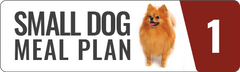 Raw food meal plan for small and toy breed dogs.