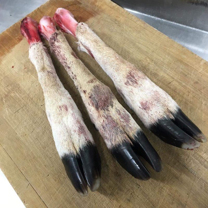 Deer feet for raw food diets for dogs. Available exclusively at Rogue RAW based in Campbelltown Sydney. NSW Australia.