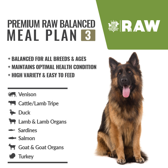 Order Online MEAL PLAN For All Breeds - PREMIUM RAW BALANCED #3