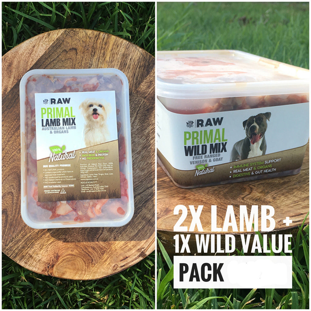 VALUE PACK - 2 x Lamb Mix + 1 x Wild Mix