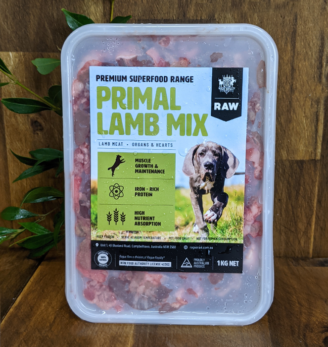 front view of lamb mix