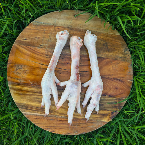 Turkey feet excellent for dogs joints and skin.