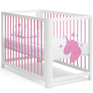 Pink Unicorn Baby Crib