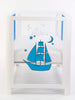 Front Facing Image of Mirrored Blue Baby Crib