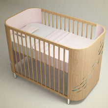 5-in-1 Natural Wood Embrace Luck Crib