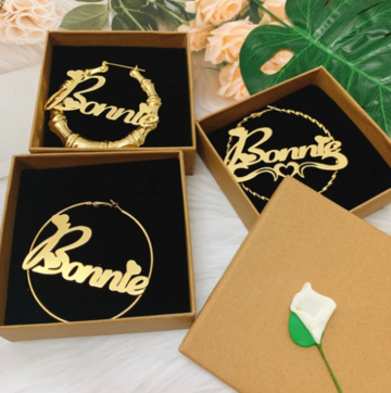 Goddess Name Hoops Set (3 Pairs)