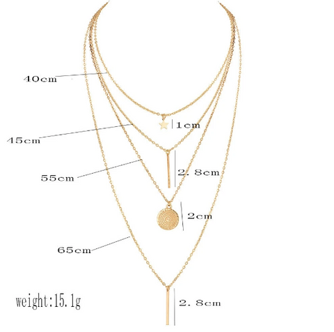 Gold Goddess Crystal Charm Necklaces