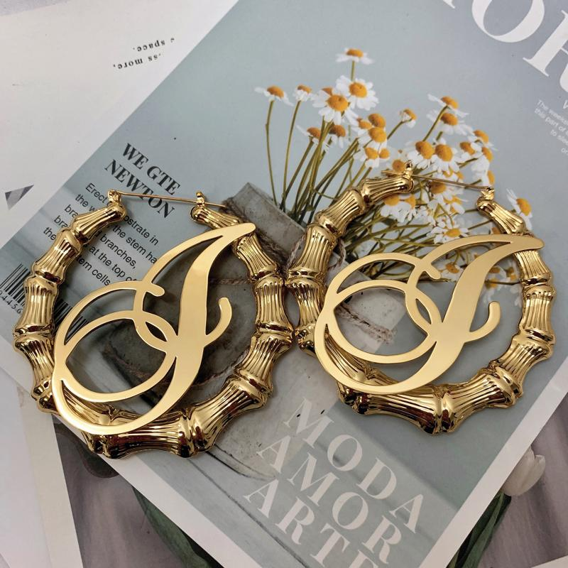 A-Z Single Letter Bamboo Hoops Whitecrate Exclusive