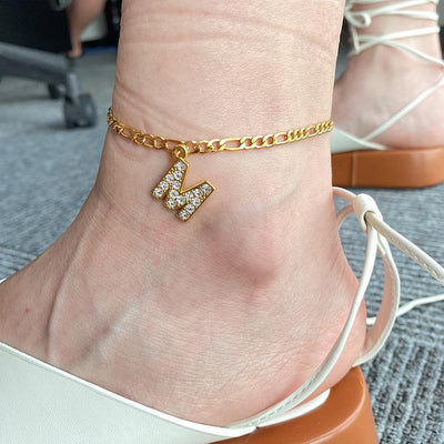 Crystal A-Z Custom Anklet Whitecrate Shop