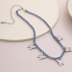 Crystal Butterfly Goddess Choker Whitecrate Exclusive