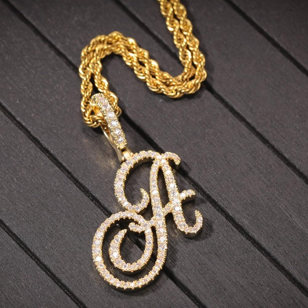 Crystal Initial Goddess Pendant Whitecrate Exclusive