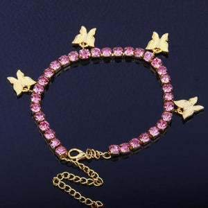 Cuban Link Butterfly Bracelet Whitecrate Shop