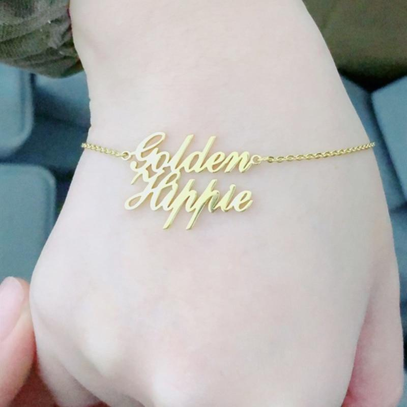 Custom Double Name Bracelet Whitecrate Shop