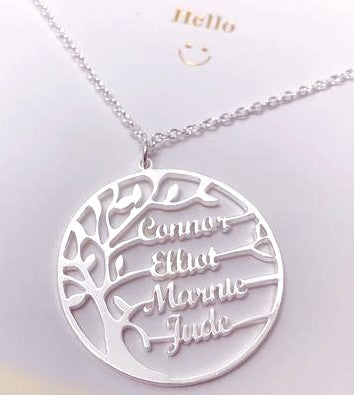 Custom Family Tree Necklace Whitecrate Shop
