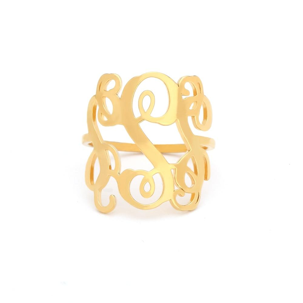 Custom Monogram Vintage Ring Whitecrate Shop