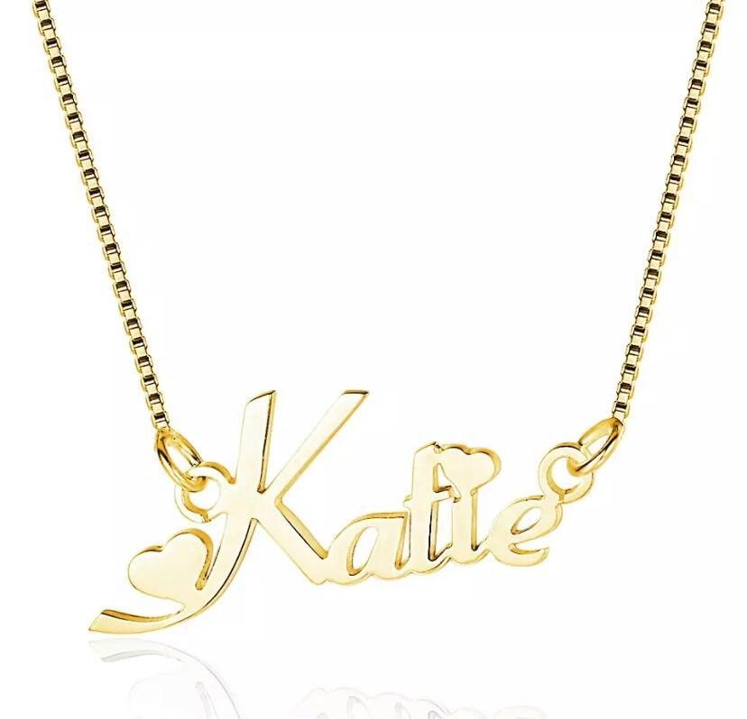 Custom Name Box Chain Necklace Whitecrate Shop