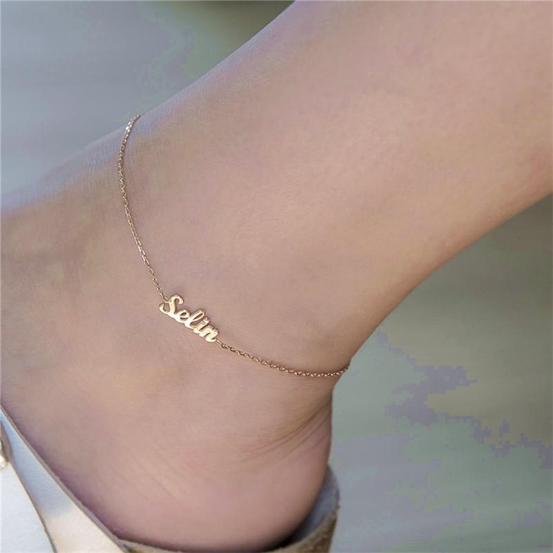 Custom Name Goddess Anklet Whitecrate Shop