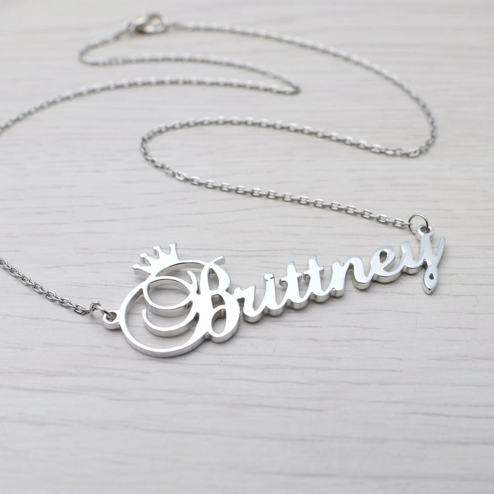 Custom Name Goddess Crown Necklace Whitecrate Exclusive