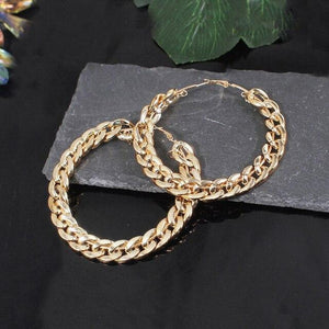 Goddess Chain Hoops Whitecrate Shop