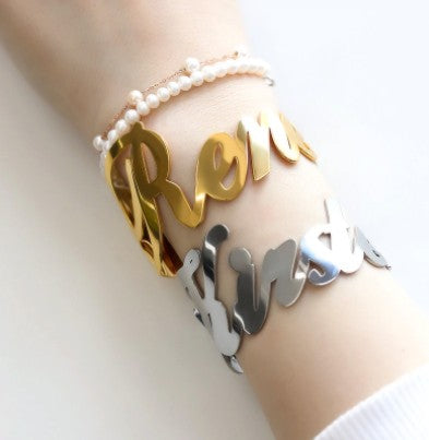 Goddess Custom Name Cuff Bracelet Whitecrate Exclusive