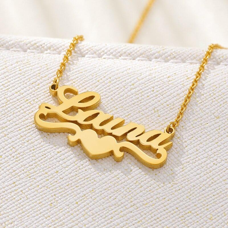 Goddess Heart Name Necklace Whitecrate Shop
